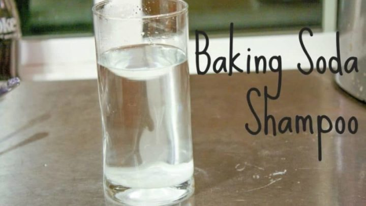 Homemade baking soda shampoo