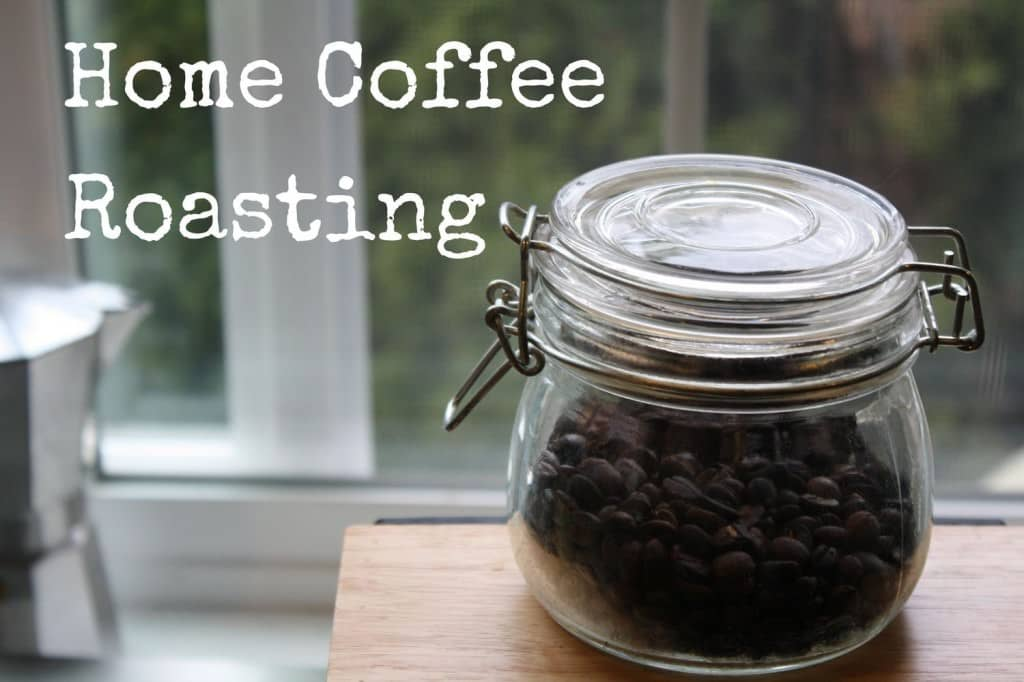 Pan roasted coffee beans
