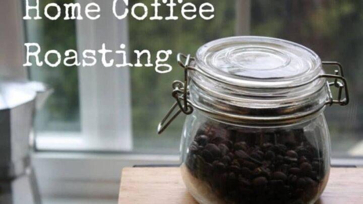 Pan roasted coffee beans