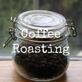 coffee roasting button