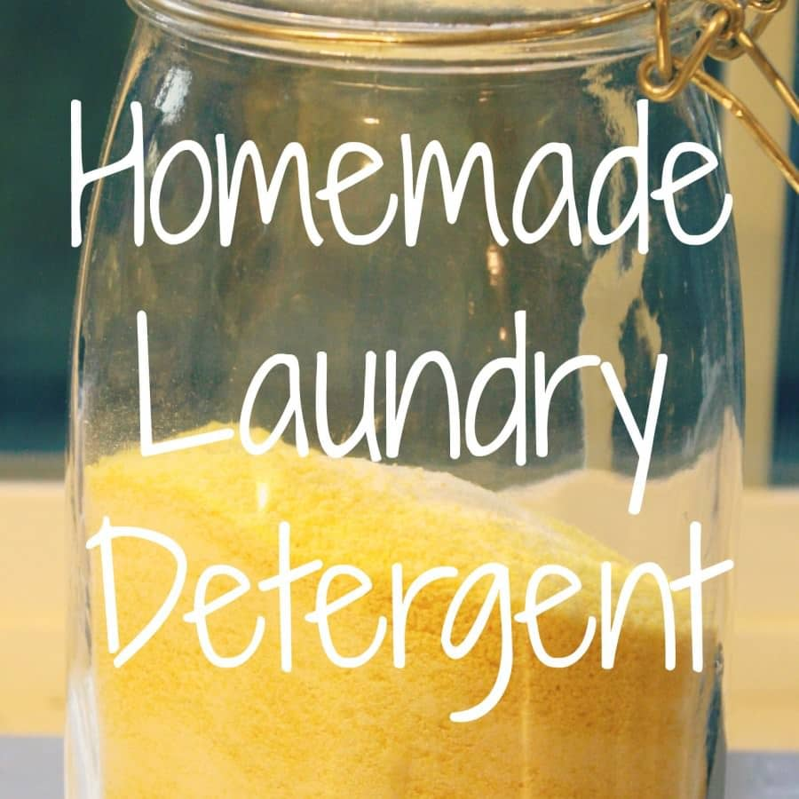 How To Make Homemade Laundry Detergent With Bar Soap and Washing Soda