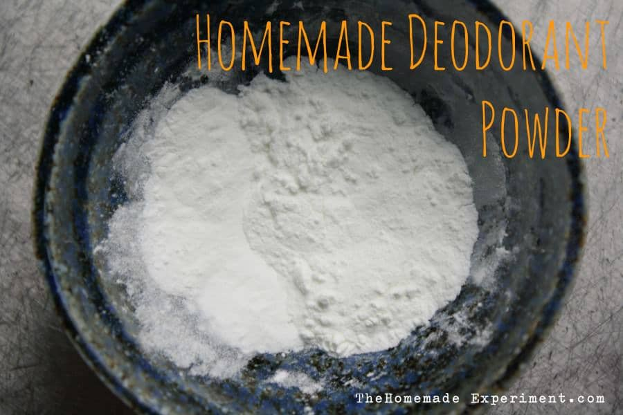 how to make deodorant powder