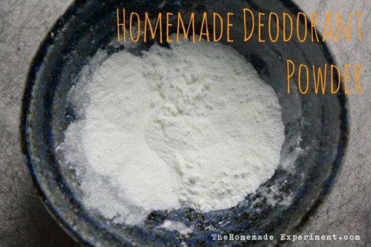 Deodorant Powder with Baking Soda & Cornstarch