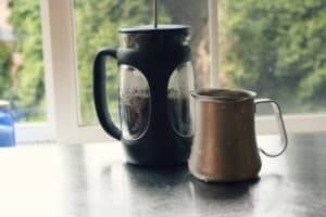 Making iced coffee from french press