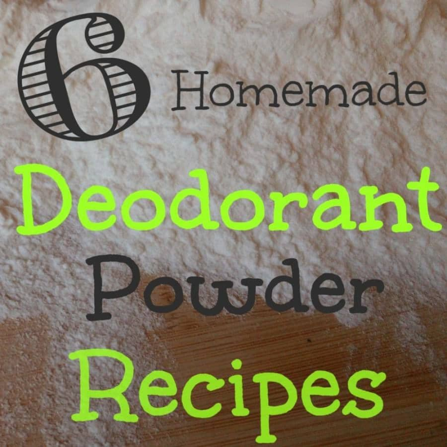 homemade deodorant powder recipes