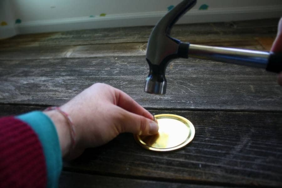 diy mason jar shaker punch the holes