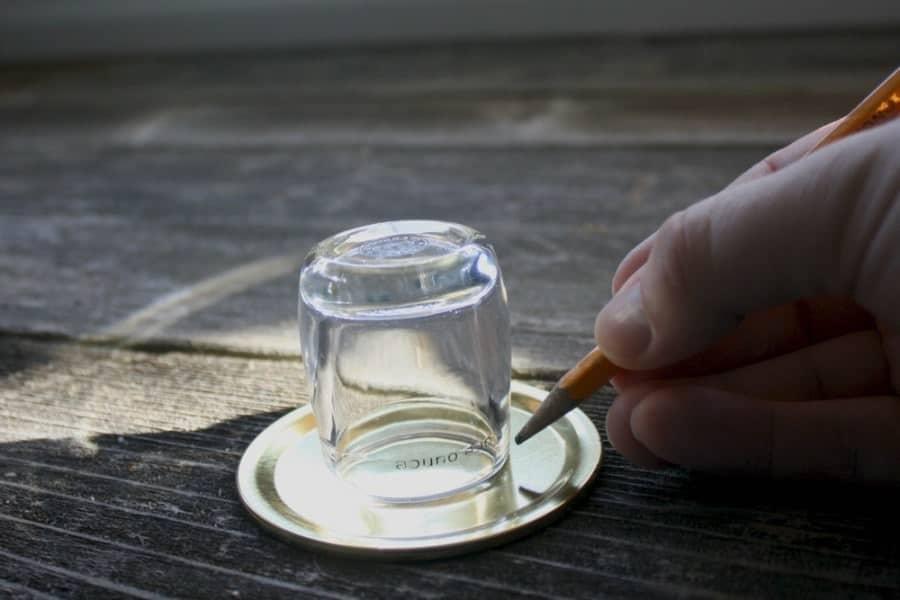 diy mason jar shaker trace your punching pattern