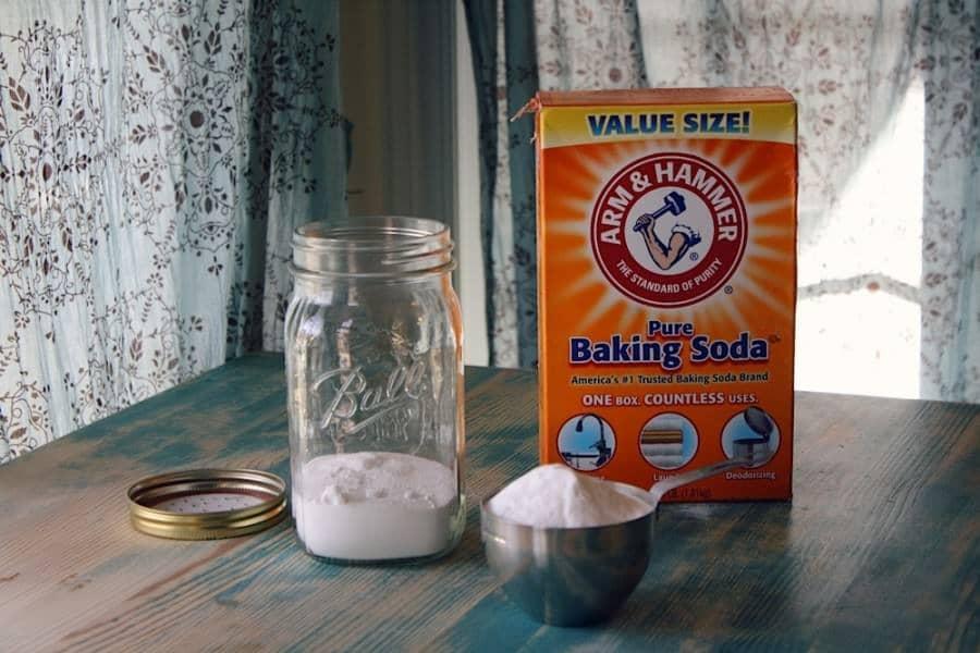 homemade carpet freshener add baking soda