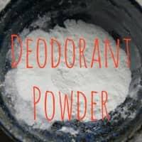 homemade deodorant powder
