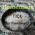 homemade air freshener with rice