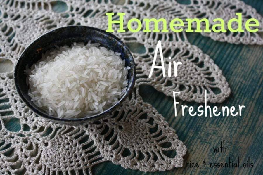 Easy Rice & Essential Oil Air Freshener Diffuser Recipe
