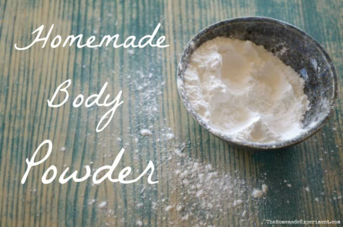 Unscented Homemade Body Powder Recipe