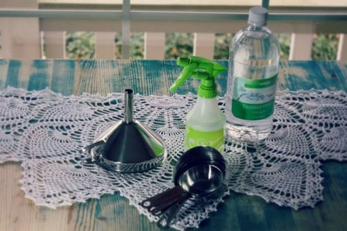homemade glass cleaner ingredients