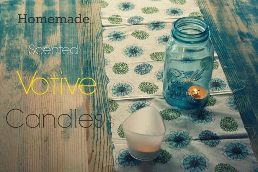 homemade scented votive candles