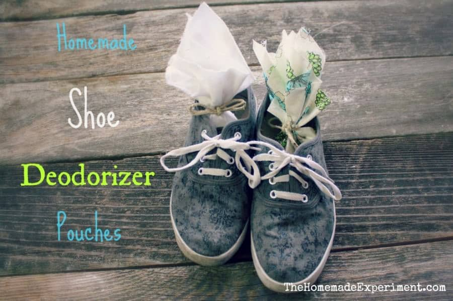 homemade shoe deodorizer pouches