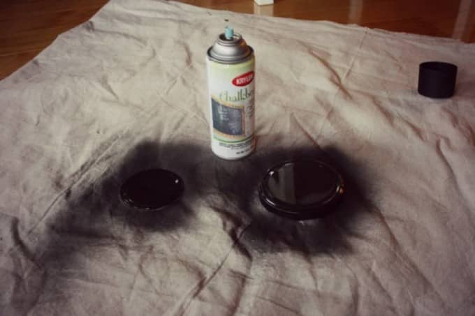 diy chalkboard lids painting time
