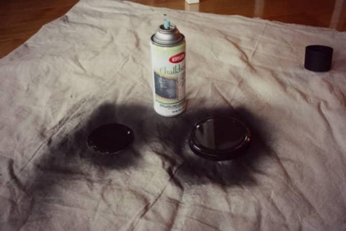 diy chalkboard lids painting time