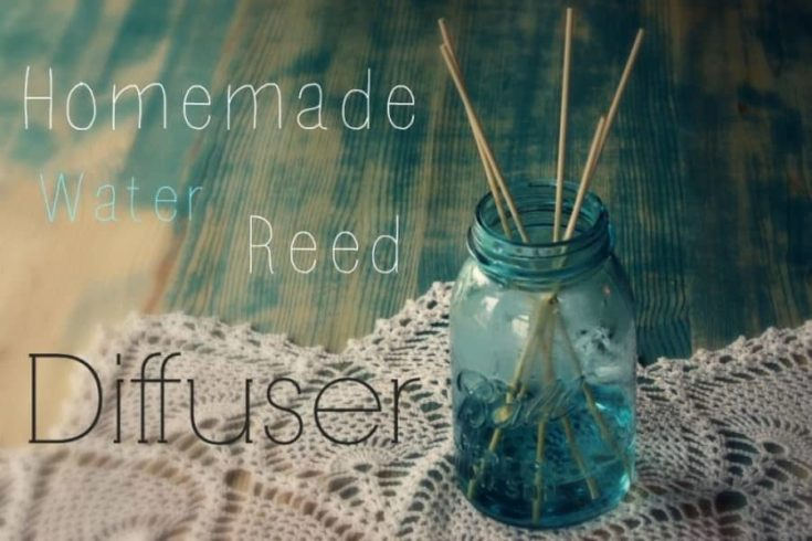 homemade reed diffuser with water