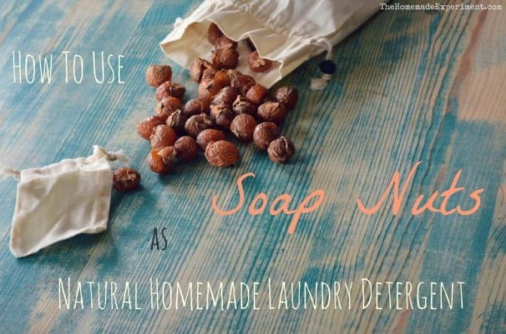 How to use soap nuts for natural homemade laundry detergent