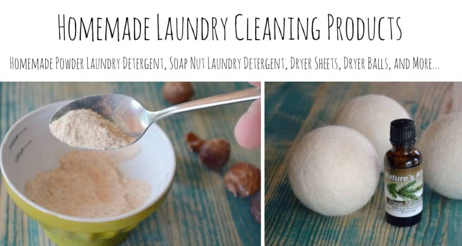 homemade laundry cleaning products