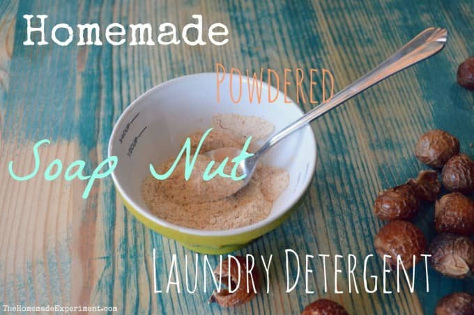 homemade powdered laundry detergent with soap nuts