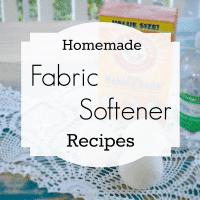 homemade fabric softeners