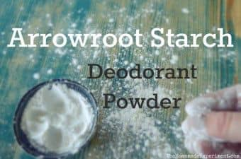 Arrowroot Deodorant Powder