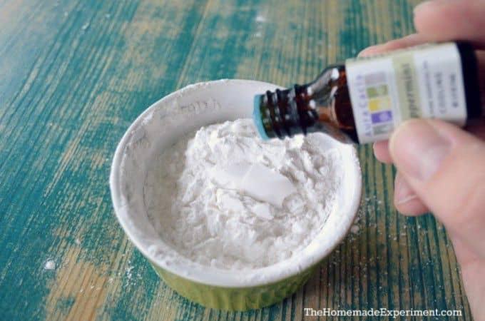 homemade deodorant powder add in essential oils