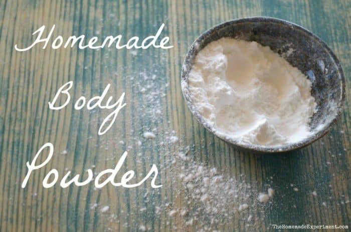 Unscented Homemade Body Powder Recipe