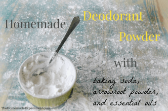 homemade deodorant powder