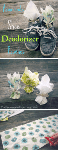 How to make your very own homemade shoe deodorizer sachets.