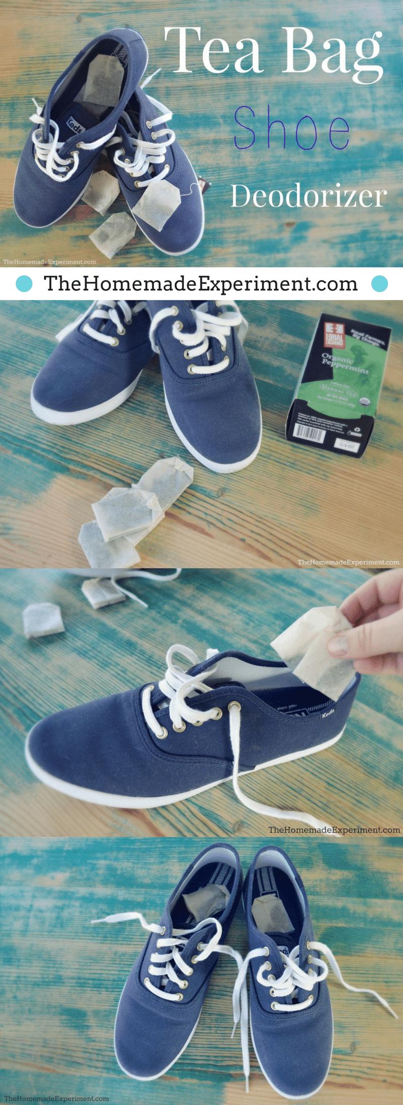Homemade Shoe Deodorizer With Tea Bags