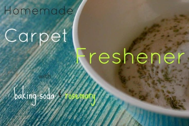 Homemade Carpet Freshener Powder with Baking Soda