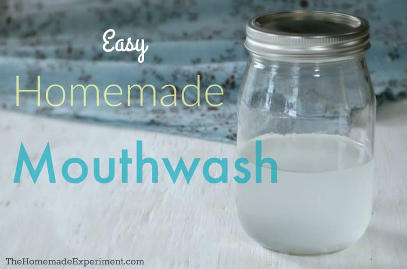 Simple Homemade Baking Soda Mouthwash