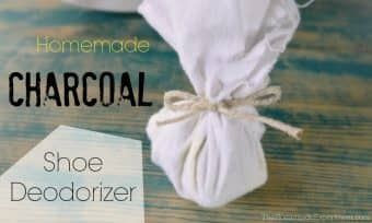 How to make homemade charcoal shoe deodorizers
