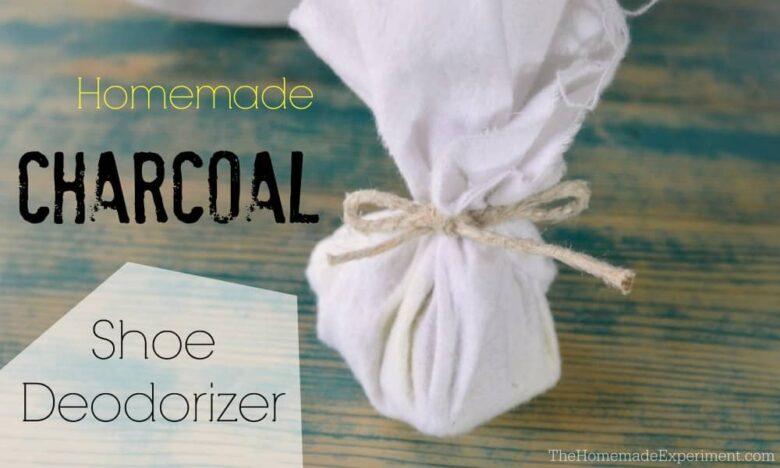 How to make homemade charcoal shoe deodorizers