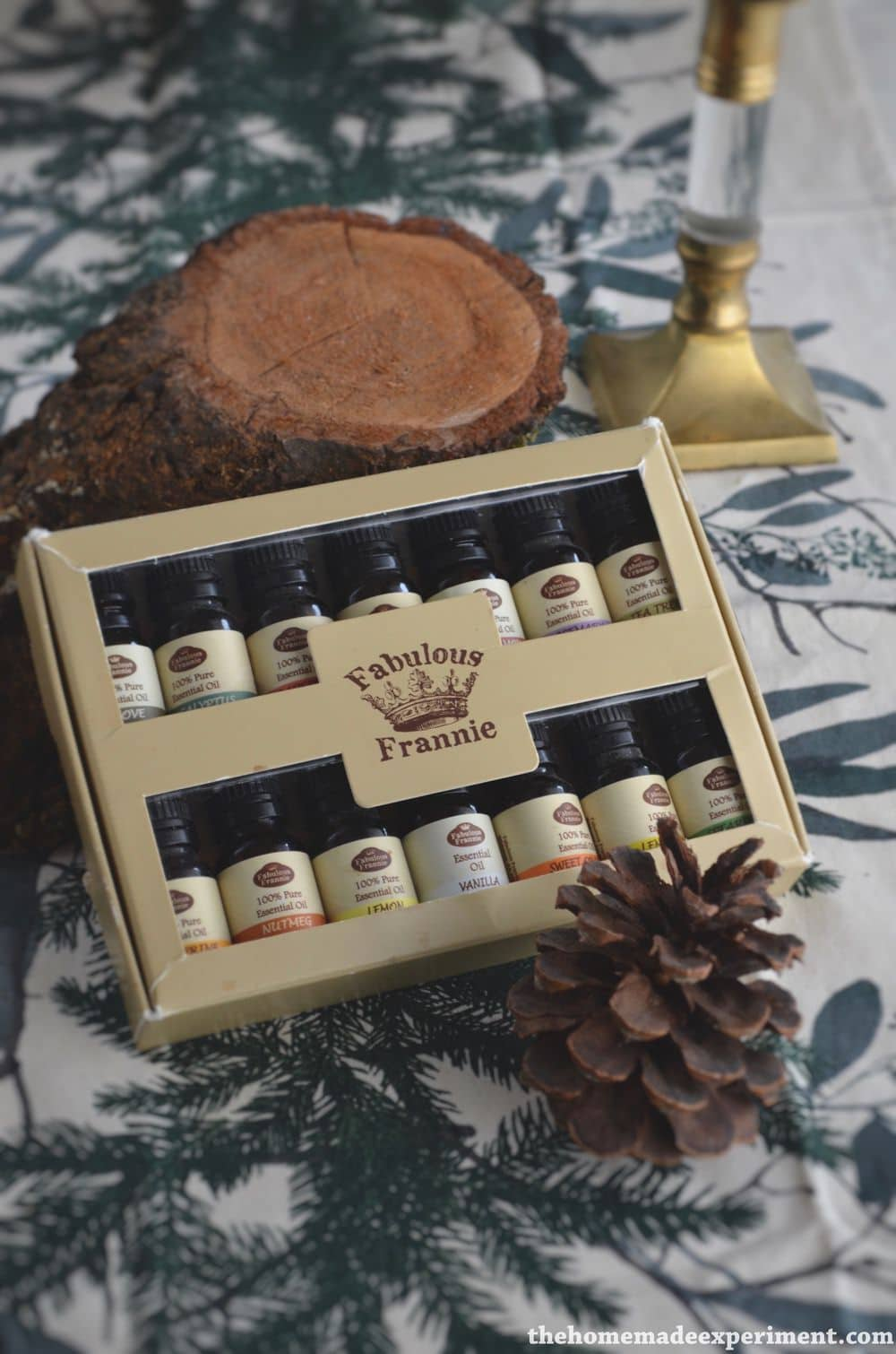 Essential oils starter set for winter and Christmas.
