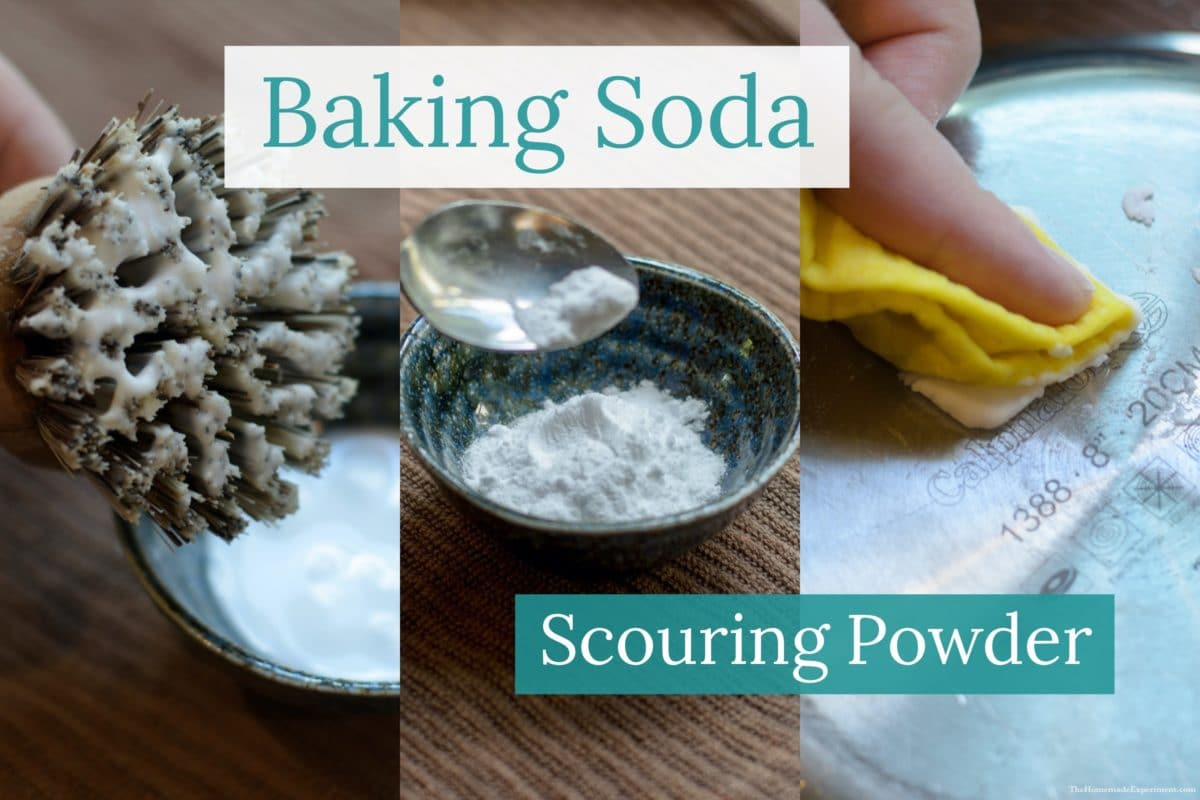 How to clean your pots and pans with diy baking soda scouring powder paste.