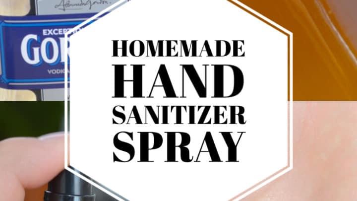 How to make homemade hand sanitizer spray
