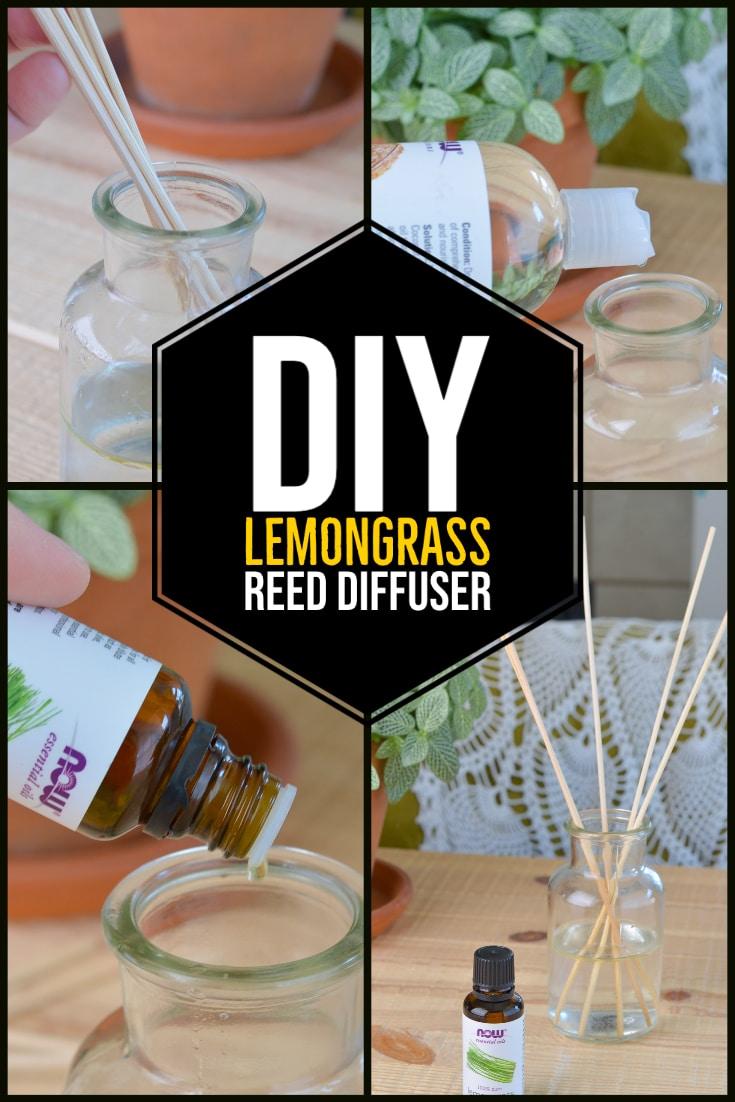 How to make a diy Lemongrass Reed Diffuser