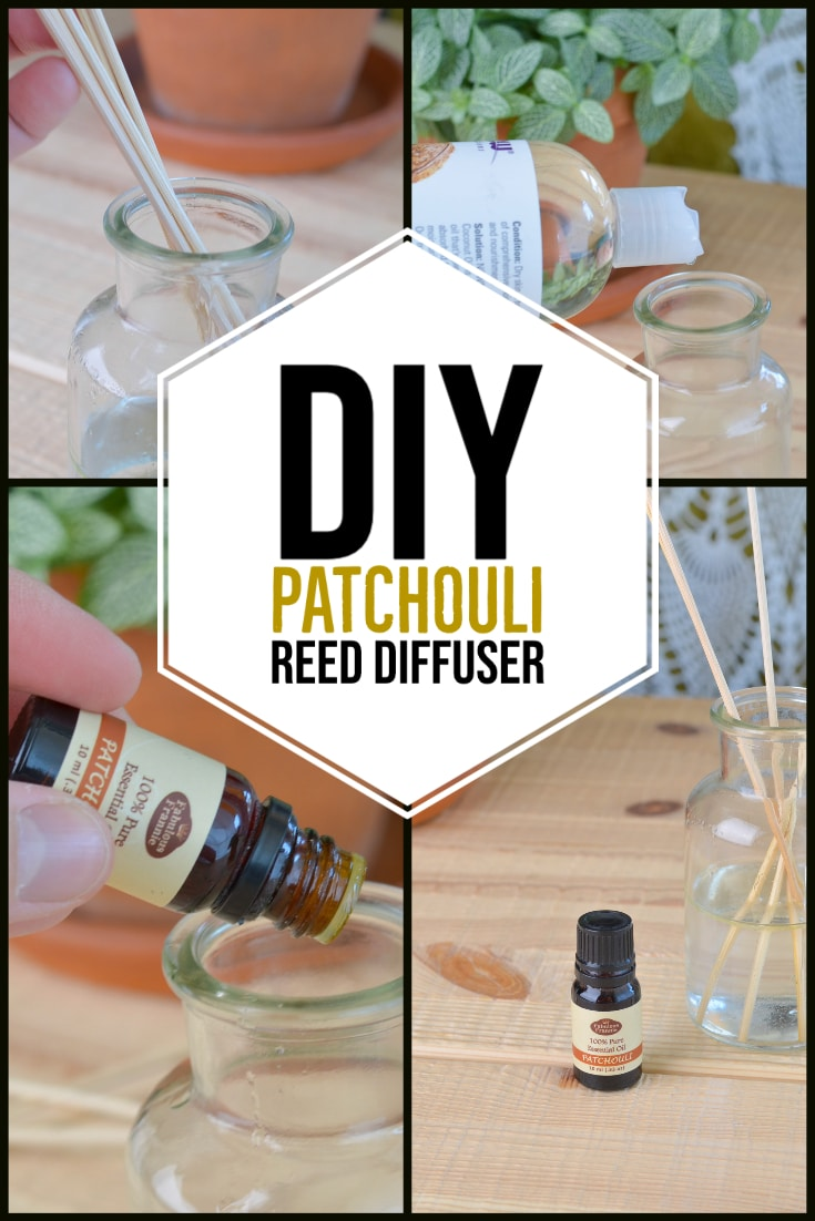DIY Patchouli Reed Diffuser